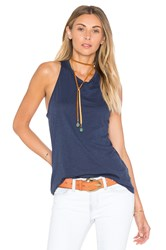 Stateside Tie Back Tank Blue