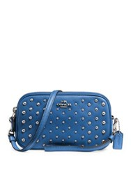 Coach Ombre Rivets Leather Convertible Clutch Blue