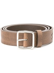 Closed Buckled Belt Nude Neutrals