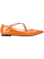 Repetto Pointed Ballerinas Yellow And Orange