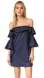 Alexis Rachel Off Shoulder Dress Navy Blue