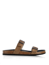 Max Mara Ezio Leather Slides