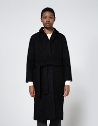 Ganni Fenn Wrap Coat Black