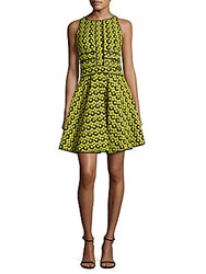 Zac Posen Floral Woven Fit And Flare Dress Soleil