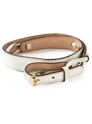Gianni Versace Vintage Buckled Belt White