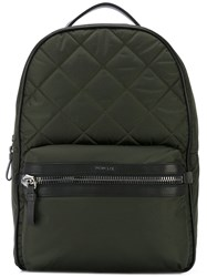 Moncler George Backpack Men Leather Polyamide Polyester One Size Green