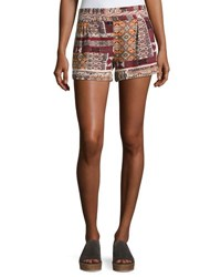 Bishop Young Desert Printed Pull On Shorts Multi Pattern