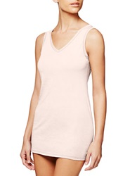 Fine Lines Pure Cotton V Neck Camisole Vanilla Bean