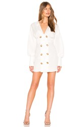 C Meo Collective Devoted Mini Dress In Ivory