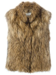 Meteo By Yves Salomon Fur Vest Nude And Neutrals