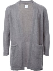 Bedwin And The Heartbreakers Open Front Cardigan Grey