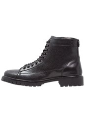 Peter Werth Laceup Boots Black