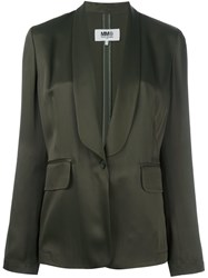 Maison Martin Margiela Mm6 One Button Blazer Green