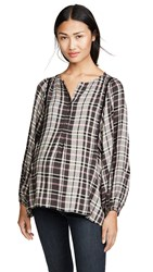 Hatch The Rose Top Black Plaid