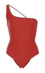 Jade Swim Apex One Shoulder Swimsuit Red