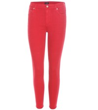 Citizens Of Humanity Rocket Crop High Rise Jeans Red