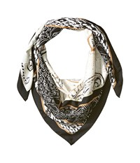 Bcbgeneration Patched Paisley Square Black Scarves