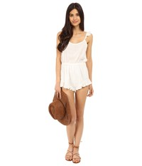 Clayton Linen Cici Playsuit Ivory Women's Jumpsuit And Rompers One Piece White