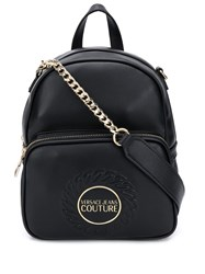 Versace Jeans Couture Embossed Backpack Black