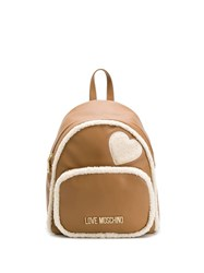 Love Moschino Shearling Backpack Brown