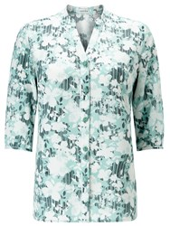Eastex Linear Floral Buttonup Tunic Multi Coloured