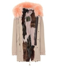 Mr And Mrs Italy Parka Fur Lined Cotton Coat Beige
