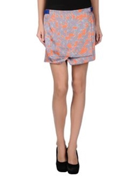 Thakoon Addition Mini Skirts Orange