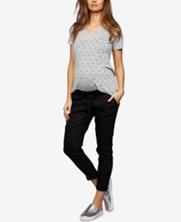 A Pea In The Pod Maternity Chambray Jogger Pants Black