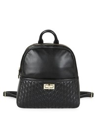 Karl Lagerfeld Quilted Leather Backpack Black