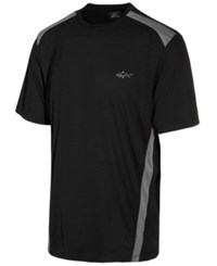 Greg Norman For Tasso Elba Men's Attack Life Performance Shirt Only At Macy's Deep Black