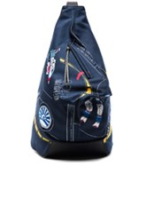 Loewe Galaxy Anton Backpack In Blue Abstract