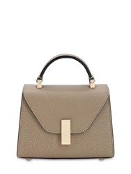 Valextra Micro Iside Grained Leather Bag Oyster