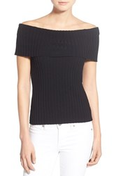 Women's Olivia Palermo Chelsea28 Rib Knit Off The Shoulder Sweater
