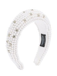 Shourouk Clotilde Embellished Headband White
