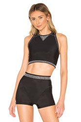 Adam Selman Racer Crop Top Black