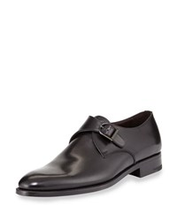 Ermenegildo Zegna Single Monk Strap Shoe Black