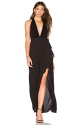 Bcbgmaxazria Deep V Gown Black