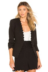 Rebecca Taylor Scallop Suit Jacket Black