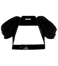 Prada Velvet Shrug Black