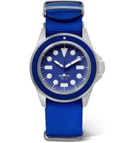 Unimatic U1 Automatic Brushed Stainless Steel And Webbing Watch Navy