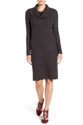 Halogen Cowl Neck Sweater Dress Gray