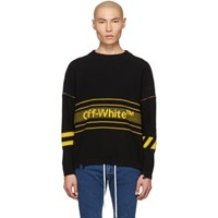 Off White Black And Yellow Logo Sweater