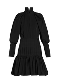 Ellery Skyward Bubble Sleeved Mini Dress Black