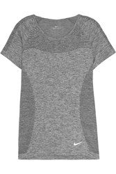 Nike Perforated Dri Fit Stretch Jersey T Shirt Gray