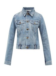 Khaite Richard Buttoned Denim Jacket Denim