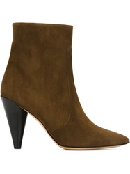 Isabel Marant Pointed Toe Ankle Boots Brown