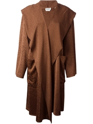 Alaia Vintage Hooded Cape Style Coat Brown