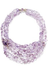 Alexis Bittar Amethyst Sapphire And Silver Necklace Purple