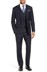 Todd Snyder Men's White Label Trim Fit Three Piece Plaid Wool Suit