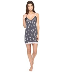 Pj Salvage Floral Seduction Chemise Smoke Women's Pajama Gray